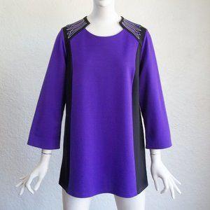 Bob Mackie Wearable Art Colorblock Tunic Dress